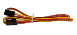 3P color brown red orange cable length 80cm- one end 2-54 DuPont female 3P- one end DuPont female 1Px3
